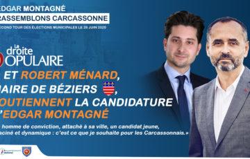 Robert Ménard soutien Edgar Montagné